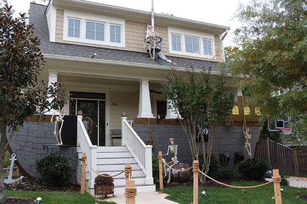 Halloween decorations of N. Jackson Street