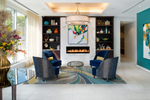 Verde Pointe fireplace