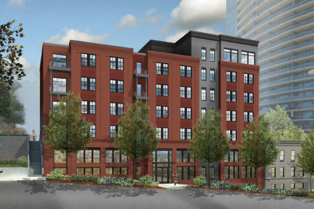 Rendering of new 1411 Key Blvd development