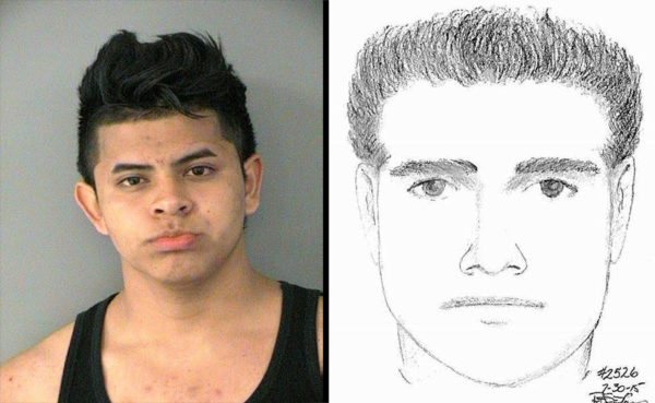ACPD arrest of sexual assault suspect (mug shot vs. sketch)