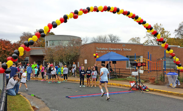 Finish line at Tuckahoe Elementary (photo courtesy Buzz McClain)