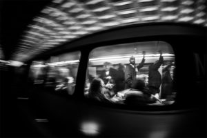Metro riders heading to work (Flickr pool photo by Kevin Wolf)