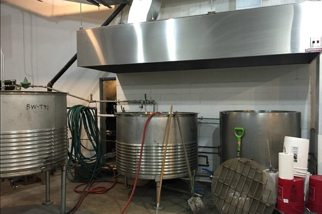 The brewhouse designed and built by Mike Katrivanos