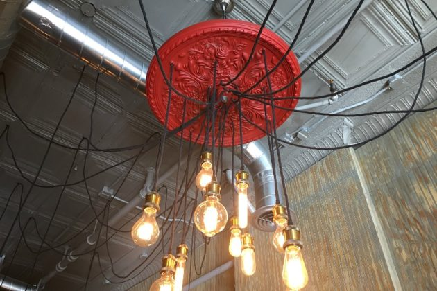 Custom lighting fixture designed by Mauricio Fraga