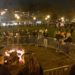 Bonfire at the Rosslyn Holiday Market on Friday