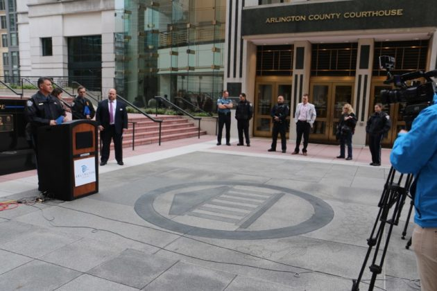 Nextdoor press conference outside ACPD HQ