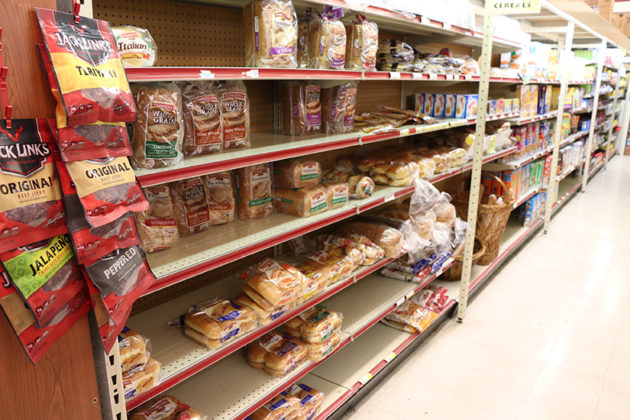 Bread and milk are among favorite items for shoppers