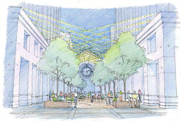 Courthouse Plaza Improvement Sketch (via Vornado)