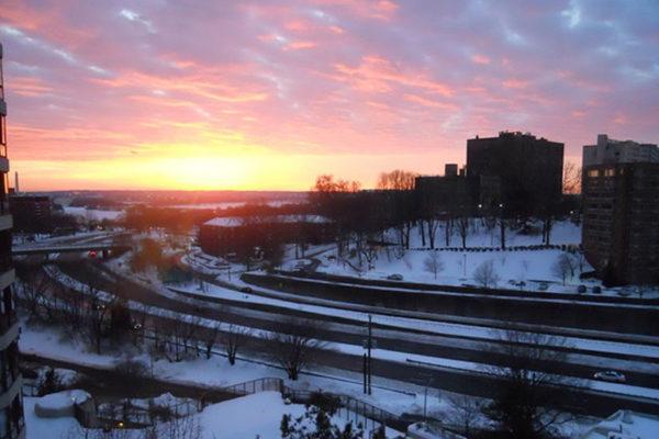 Snowy sunrise (photo courtesy Valerie Crotty)