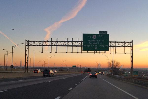 I-395 near the Pentagon at dawn
