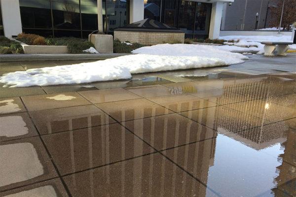 Melting snow in Rosslyn