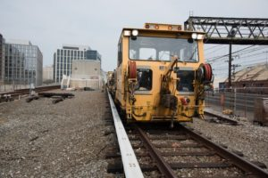 Track equipment similar to the one that broke down outside National Airport Monday afternoon (photo via WMATA)