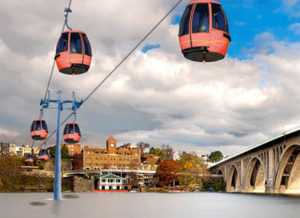 Rendering of Georgetown-Rosslyn gondola (image via Georgetown BID)