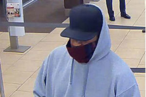 Suspect in Wells Fargo robbery in Pentagon City (photo courtesy ACPD)