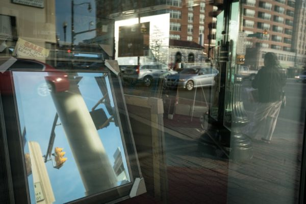 Columbia Pike in the mirror (Flickr pool photo by Kevin Wolf)