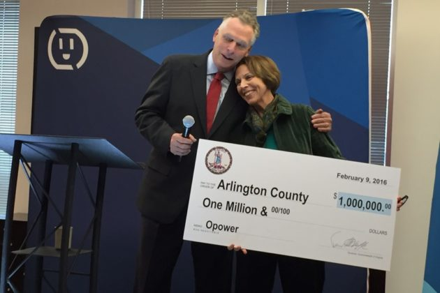 Gov. Terry McAuliffe and County Board Chair Libby Garvey (photo courtesy Arlington County)