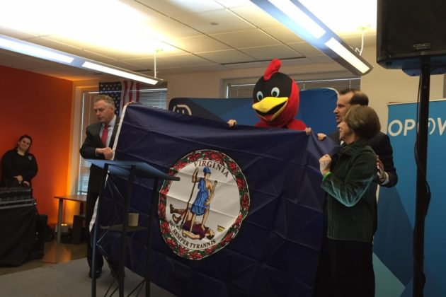 Gov. Terry McAuliffe at Opower announcement (photo courtesy Arlington County)