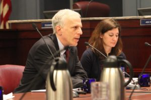 County Manager Mark Schwartz at County Board budget work session