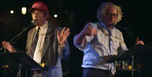 Mock Donald Trump vs. Bernie Sanders debate