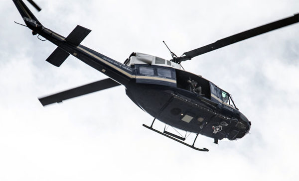 U.S. government helicopter flying overhead (Flickr pool photo by John Sonderman)