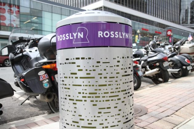 New Rosslyn trash can