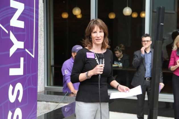 Rosslyn BID President Mary-Claire Burick at Rosslyn streetscape announcement