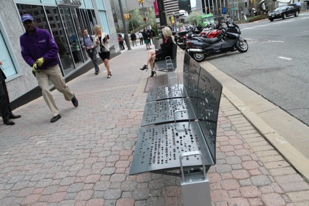 New Rosslyn bench