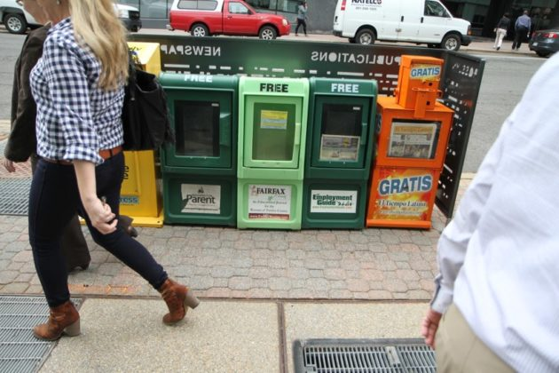 New Rosslyn newspaper box