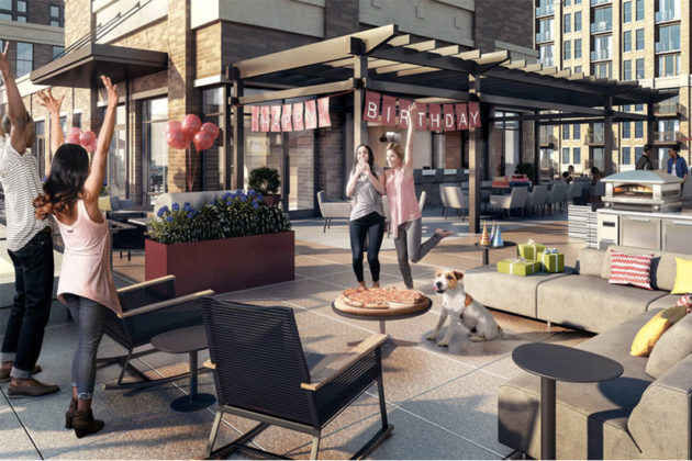 Rendering of Millennial-friendly amenities at The Bartlett in Pentagon City (via thebartlett.com)