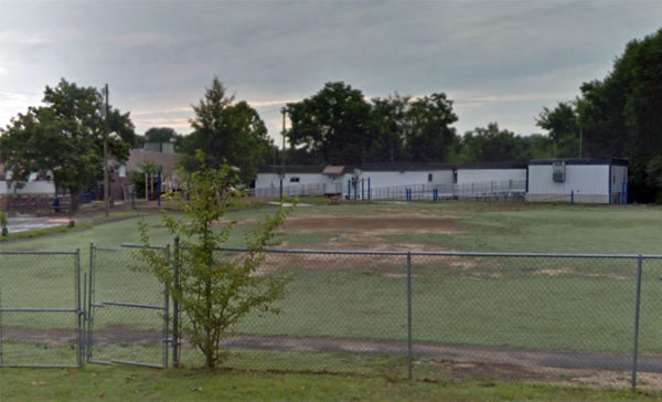 Relocatable classroom trailers are Arlington Science Focus School (photo via Google Maps)