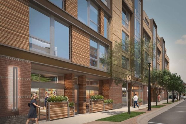 Rendering of the 10th Street Flats mixed-use development