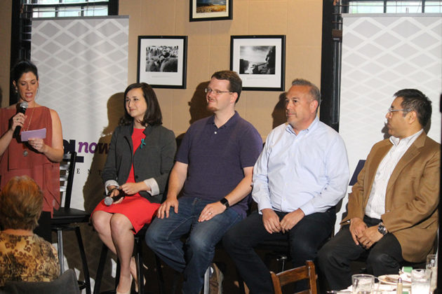 Panelists, left to right: Katie Cristol, Chris Slatt, John Murphy, Michael Garcia