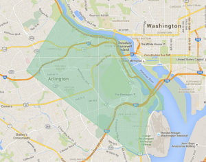 UberEATS Arlington service map (image courtesy of Uber)