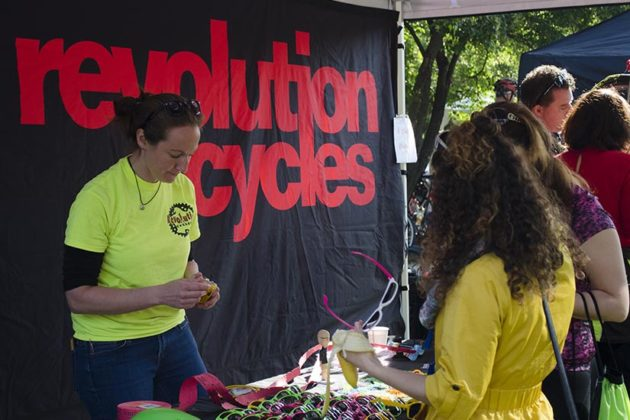 Revolution Cycles tent at the Rosslyn pit stop.