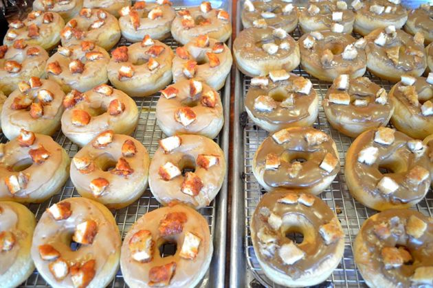 Sriracha and Maple Chicken Donuts at Sugar Shack