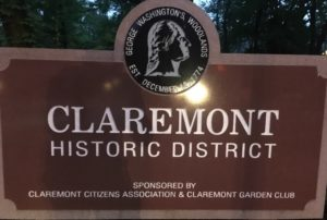 Claremont neighborhood sign (photo via Eli Tucker)