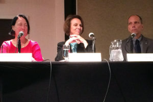2016 Arlington County Board candidates Audrey Clement, Libby Garvey and Erik Gutshall