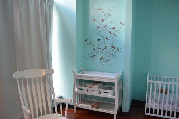 "The ""Little Nest"" room where there is care for babies 6 weeks to 18 months."