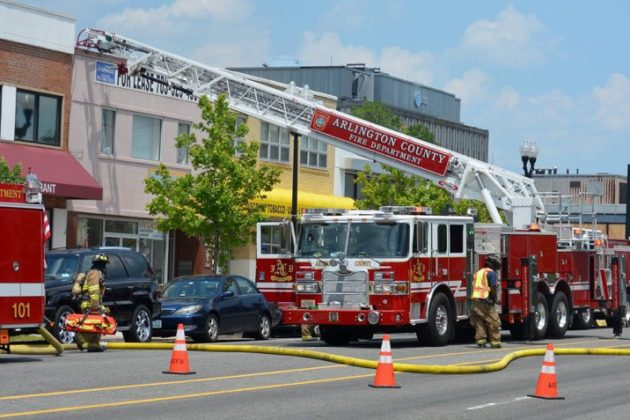 Electrical fire at Thai Square Restaurant (photo courtesy Andrew Pang)