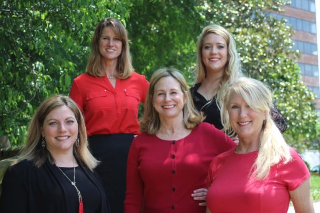 Ann Wilson Team, l-r: Carol Pearson, Cindy May, Ann Wilson, Chelsea Jacobs and Nancy Carter