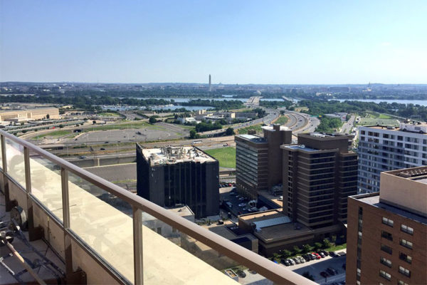 View from the rooftop of the new Bartlett apartment building in Pentagon City (photo courtesy @rydaka)