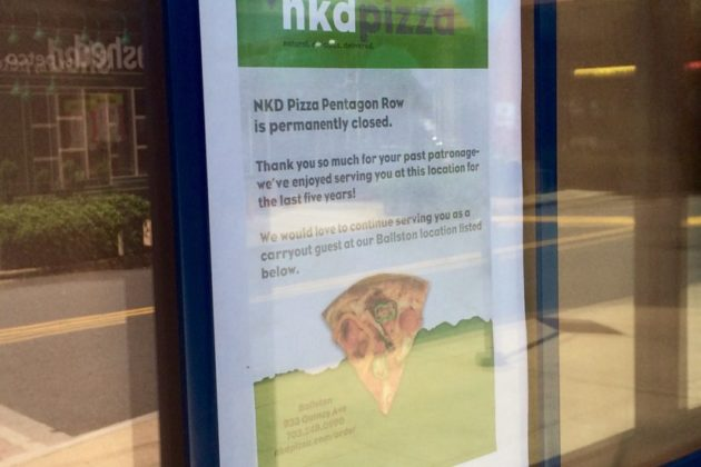 NKD Pizza closed in Pentagon City