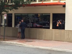 Reality show filming at Oz restaurant in Clarendon 6/22/16