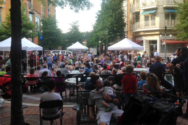 Outdoor concert in Shirlington