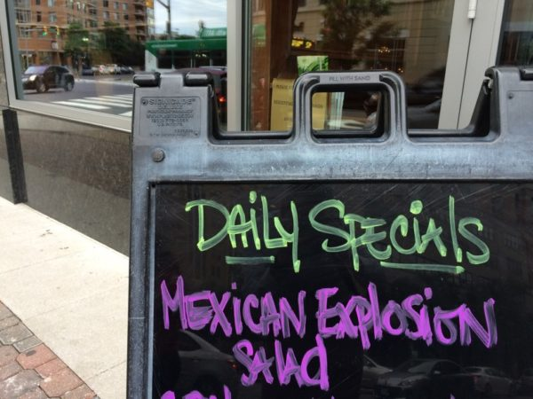 Daily food specials at Mister Day's in Clarendon