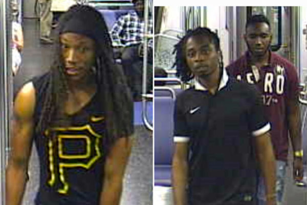 Suspects from a sexual assault that occurred on a Yellow Line train (photo courtesy WMATA)
