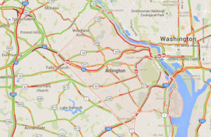 Traffic map on 6/6/16 (via Google Maps)