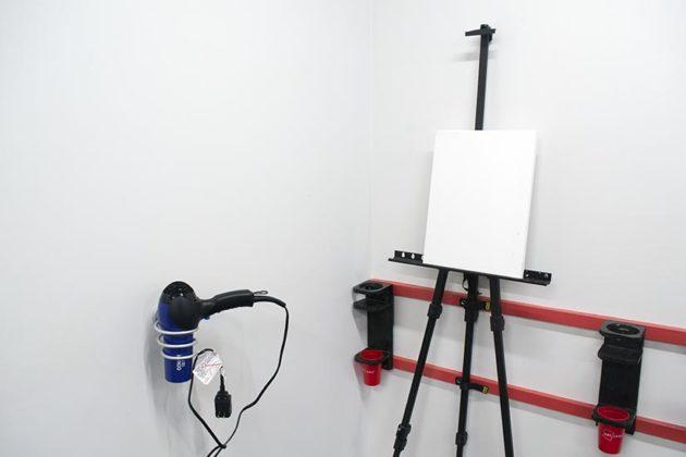 Work station setup