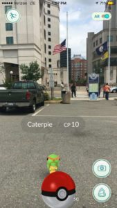 Pokemon Go being played in Courthouse (photo via @ReadyArlington)