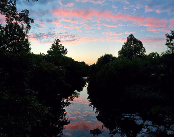Sunset over Four Mile Run in Shirlington
